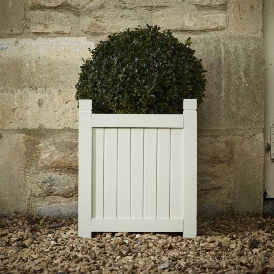 elegant hardwood planter / french grey | patio planters, french grey