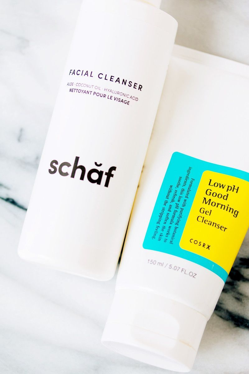 Schaf Facial Cleanser and COSRX Low pH Good Morning Gel Cleanser ...