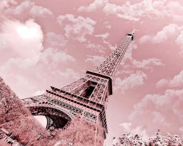 pink tower | Eiffel Tower - Paris in Pink - at ekaterinahasbarger at Etsy.