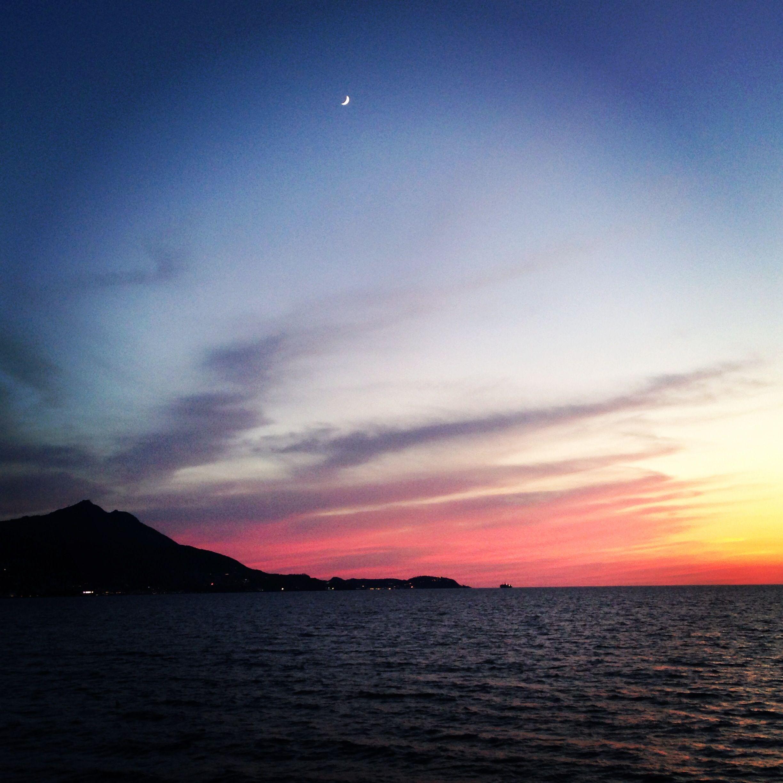 Tramonto in rosa su Ischia. Procida- Terrazza del Lido La Rotonda ...