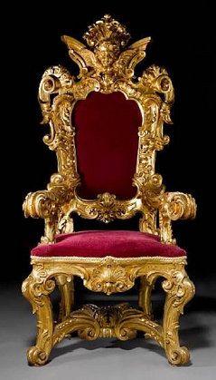 Throne Firenze 19th C 179 X 80 X 72 Cm Via