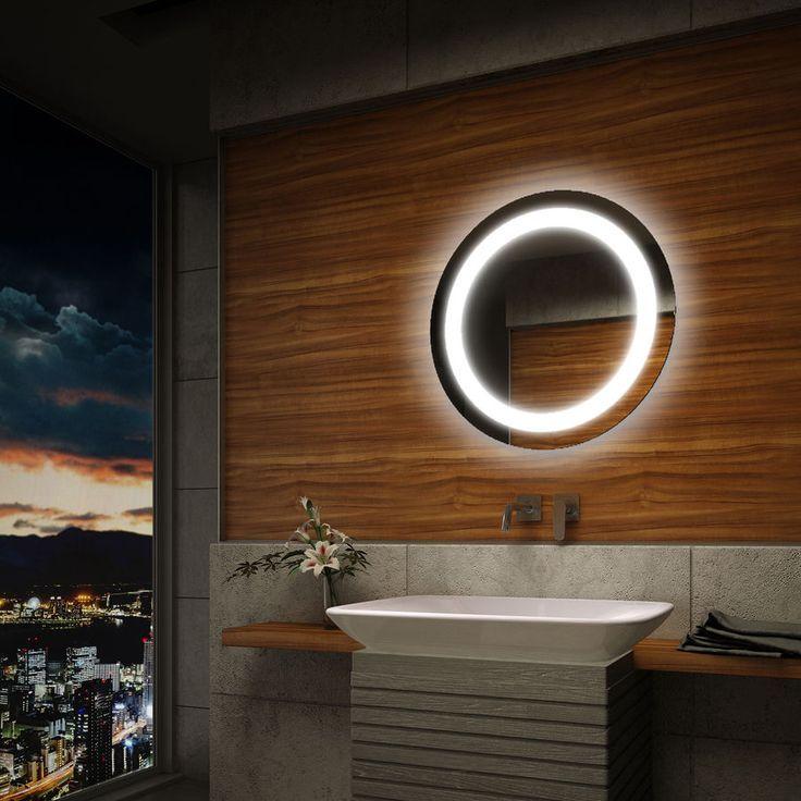 Details zu Rund Badspiegel LED Beleuchtung Wandspiegel - badezimmer spiegel beleuchtung