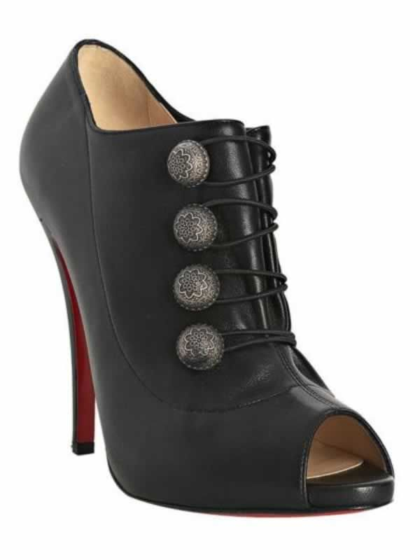 new product 3f73f 74ea6 Cheap Christian Louboutin Boots black leather Roman 120 ...
