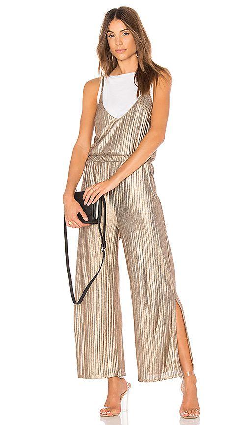 6eb6b9e9d928 MINKPINK Metallic Crinkle Jumpsuit in Metallic