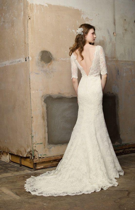 wedding dress lace open back