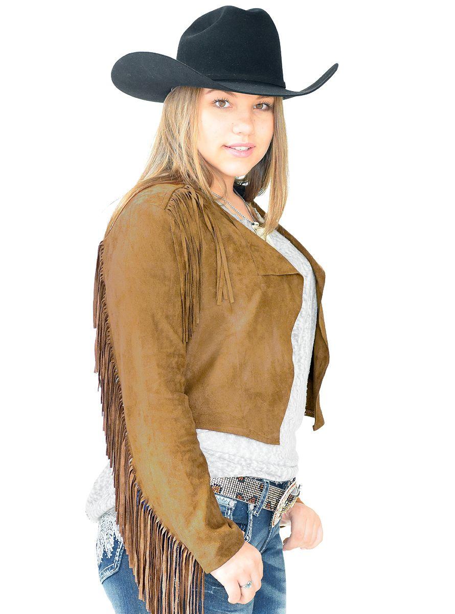 1cb78812e1 Jaqueta Suede Tabaco com Franjas Jaqueta Feminina Suede na cor Tabaco.  Possui Franjas nos ombros