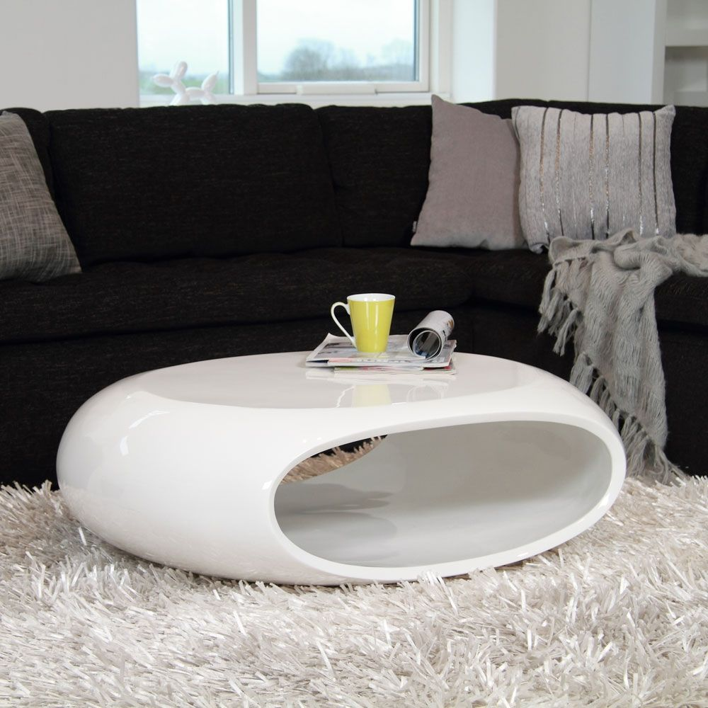 By Elements White Oval Cocktail Table Coffee Table White White Gloss Coffee Table Coffee Table [ 1000 x 1000 Pixel ]