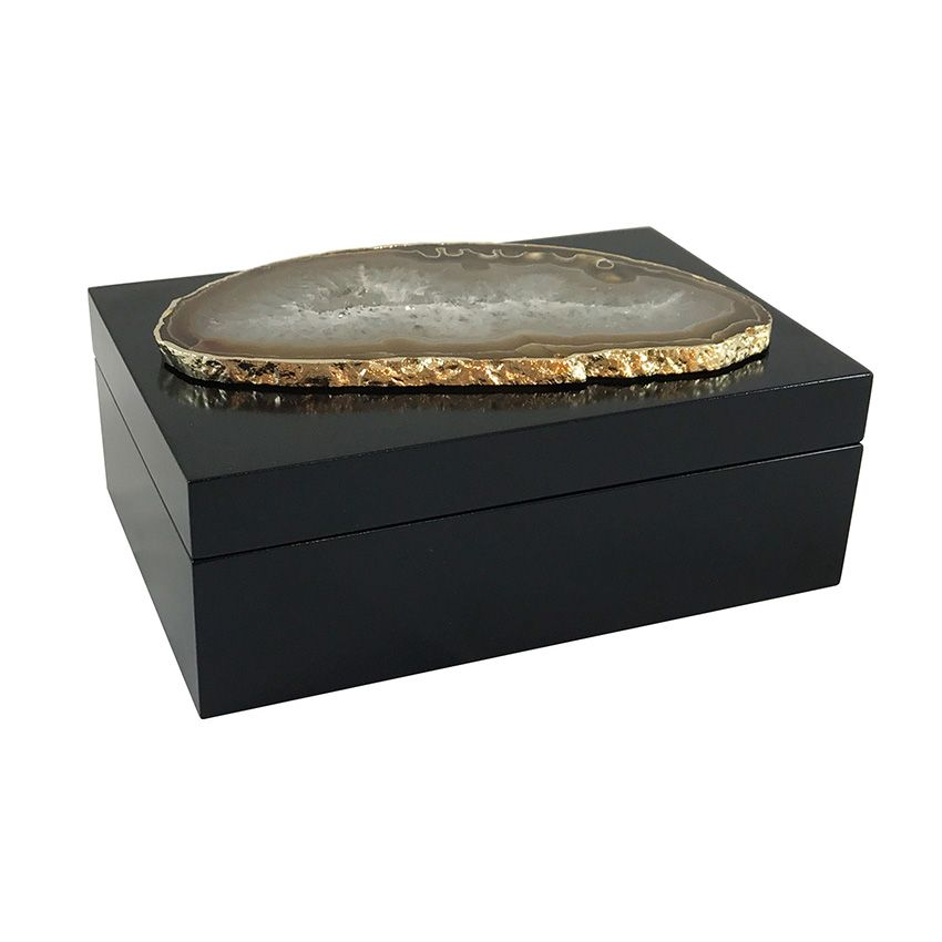 Curated Kravet Guilherme Large Agate Box Decorative Boxes