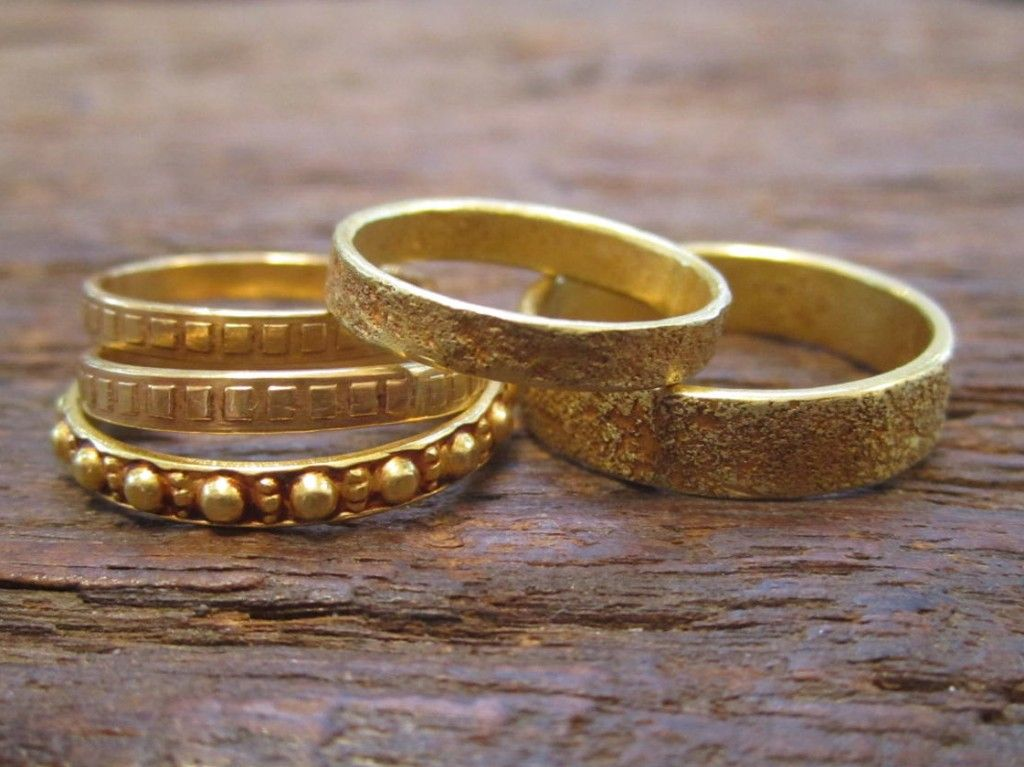indian gold wedding bands - Indian Wedding Rings