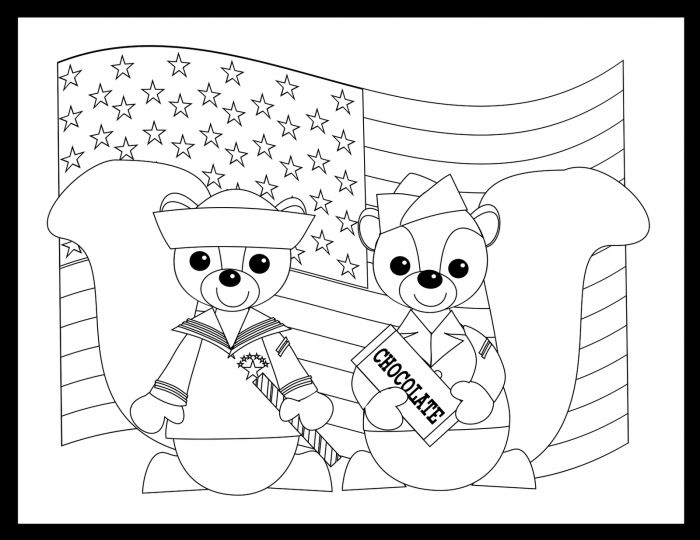 Veterans Day Coloring Pages Kindergarten Coloring Style