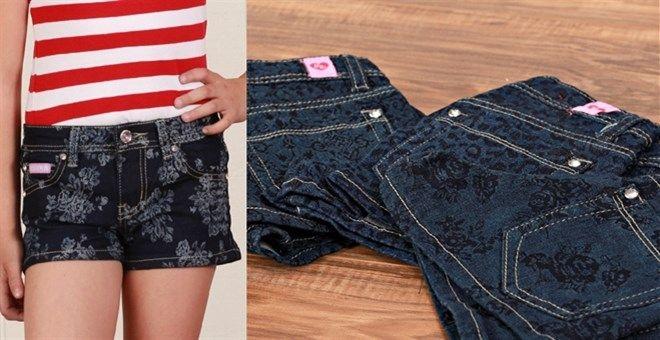 Embossed Toddler/Girl Shorts-{Pant Sizes2T-14}