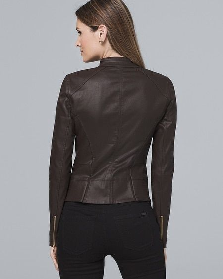 794ffc6e505 Women's Coated Moto Jacket by White House Black Market | Products ...
