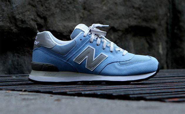 new balance 574 azul claro