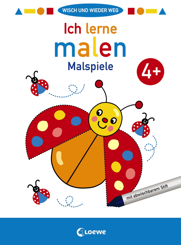 Wisch Und Wieder Weg Ich Lerne Malen 4 Malspiele Lernen Kinder Malbuch Wisch