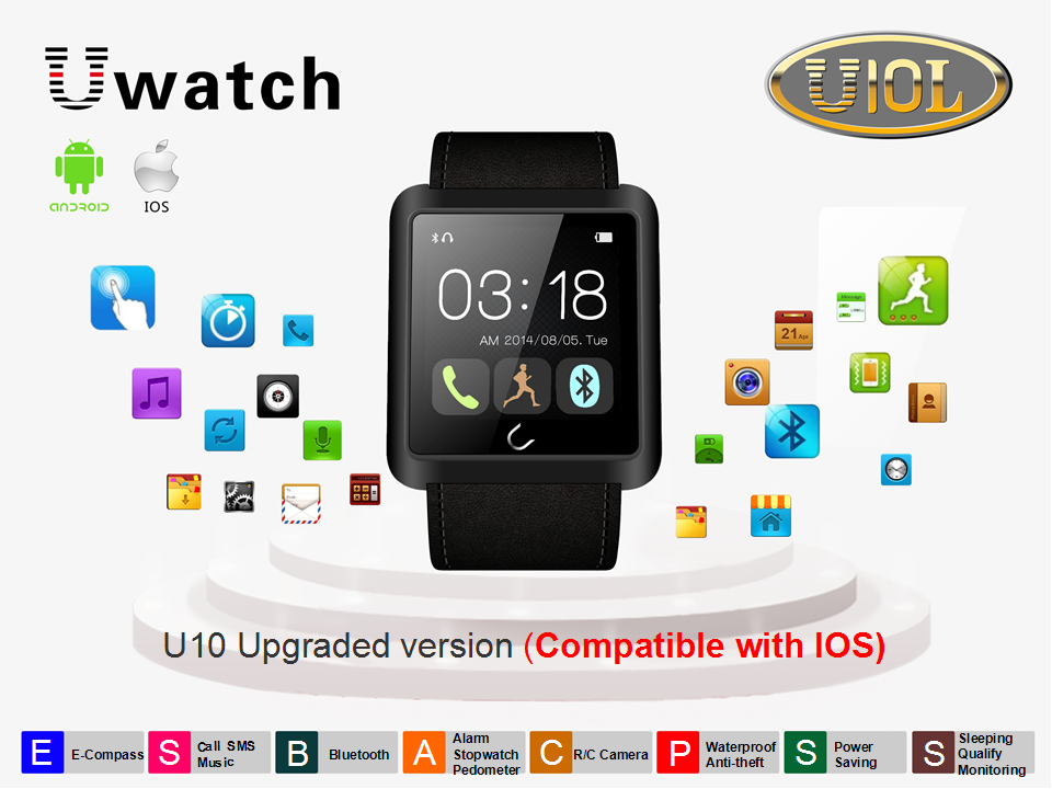 Phone smartwatch , Uwatch (U10L) for Android, IOS iphone