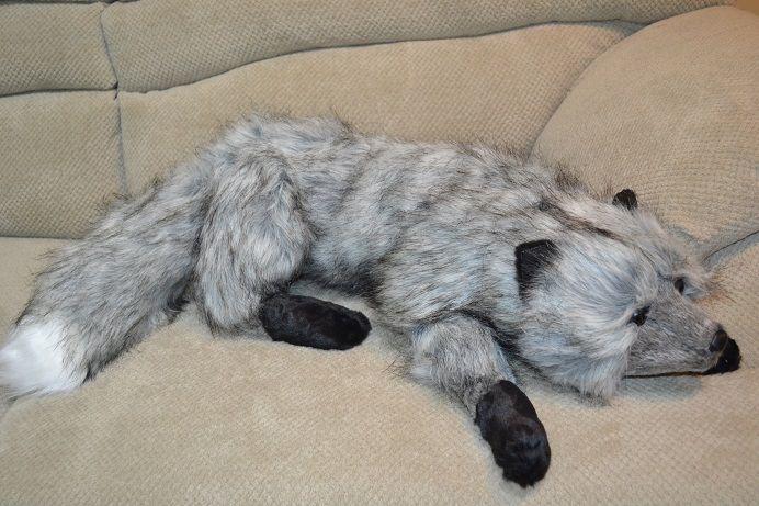 Silver Fox Stuffed Animal, Silver Fox Stuffed Plush Animals Pillow Hug 32 Inch Fox Stuffed Animal Animal Pillows Plush Animals
