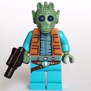 NEW LEGO STAR WARS GREEDO MINIFIG figure minifigure 75052 mos eisley cantina toy