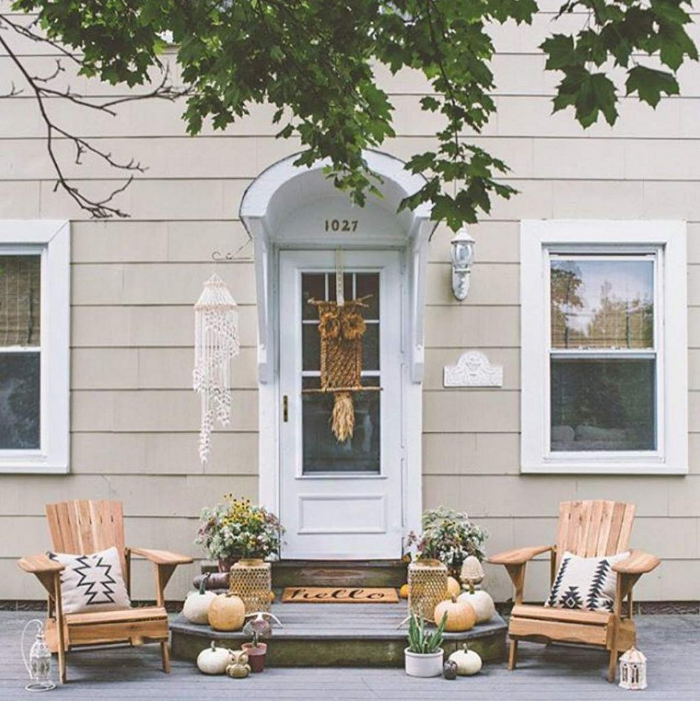 29 ways to dress up your front porch for fall | Front porches, Porch ...