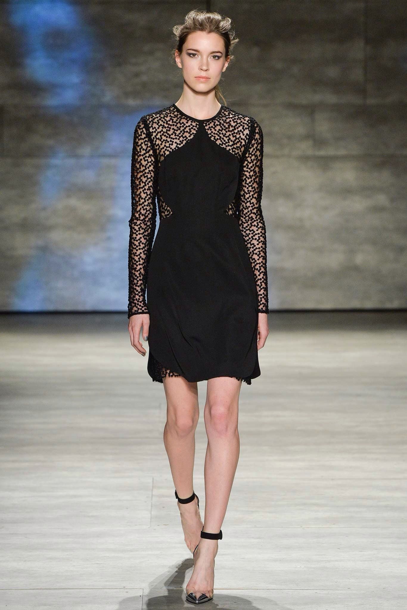 Model Eliza Hartmann for Lela Rose AW15 NYFW 2/17/15