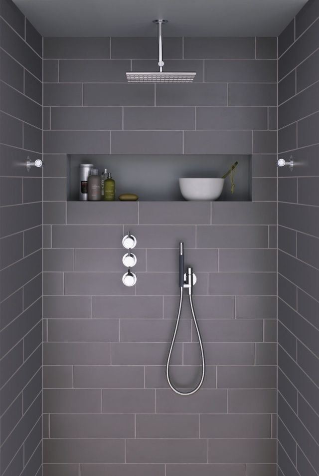1000 images about salle de bain on pinterest coins equation and wall cabinets - Salle De Bain Douche Italienne Grise