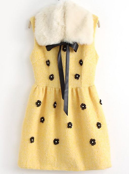 Faux Fur Sundress