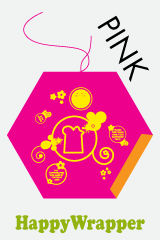 HappyWrapper is ook te koop in het roze. Leuk voor alle meisjes om de boterhammen in mee te nemen naar school.