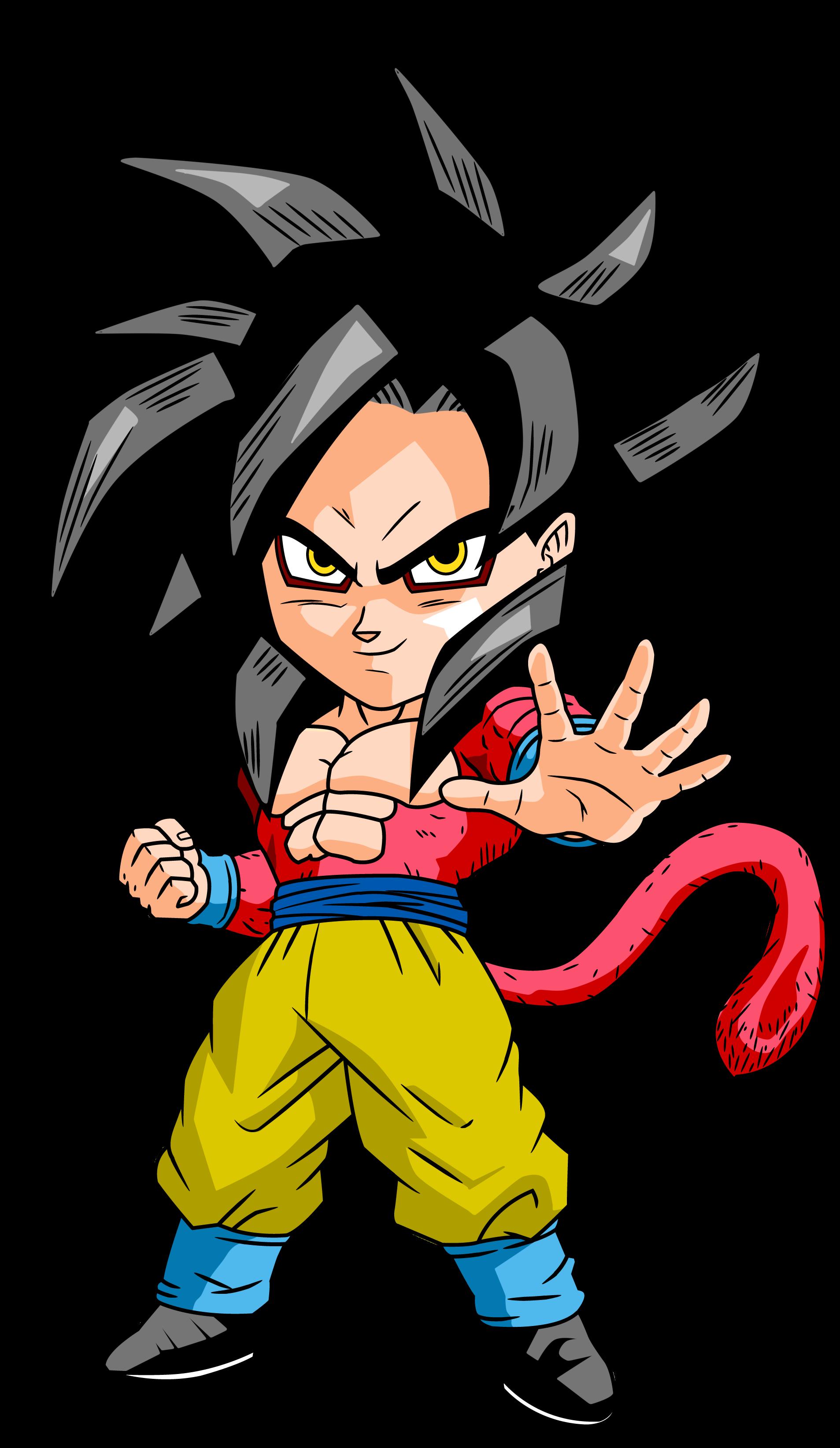 Goku Ssj4 Chibi By Dbzartist94 D4mexg3 Png Imagen Png 1907 3287 Pixeles Escalado 14 Chibi Dragon Anime Dragon Ball Super Dragon Ball Gt
