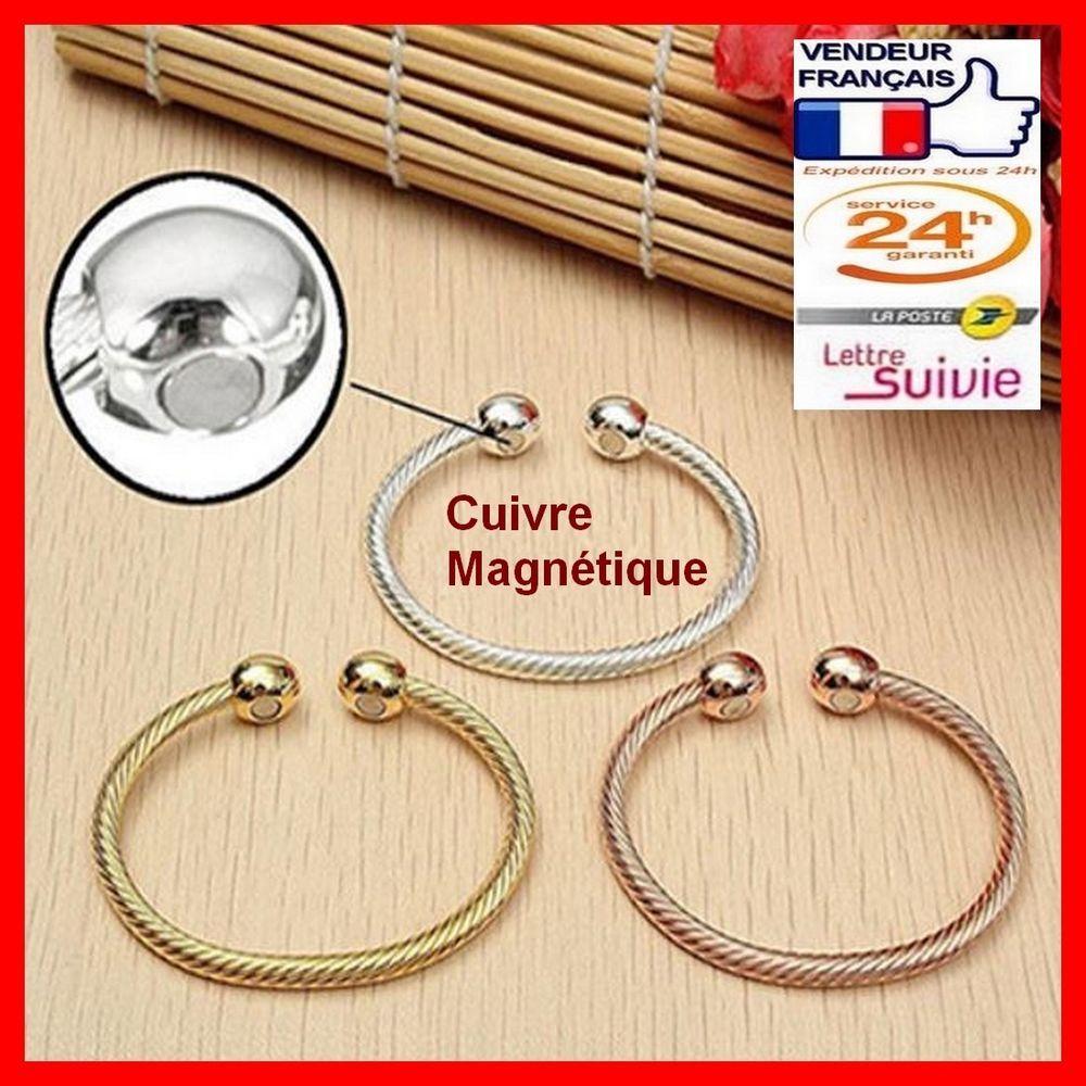 design intemporel 09023 a5927 Bracelet magnétique câble cuivre avec aimants   santé bien ...