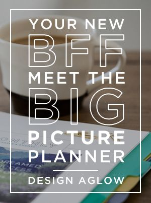 The Big Picture Planner is simply amazing! This is definitely the best planner I've seen for photographers, bloggers, marketers, and other creatives. Get organized and stay on track with this annual planner. {affiliate link}