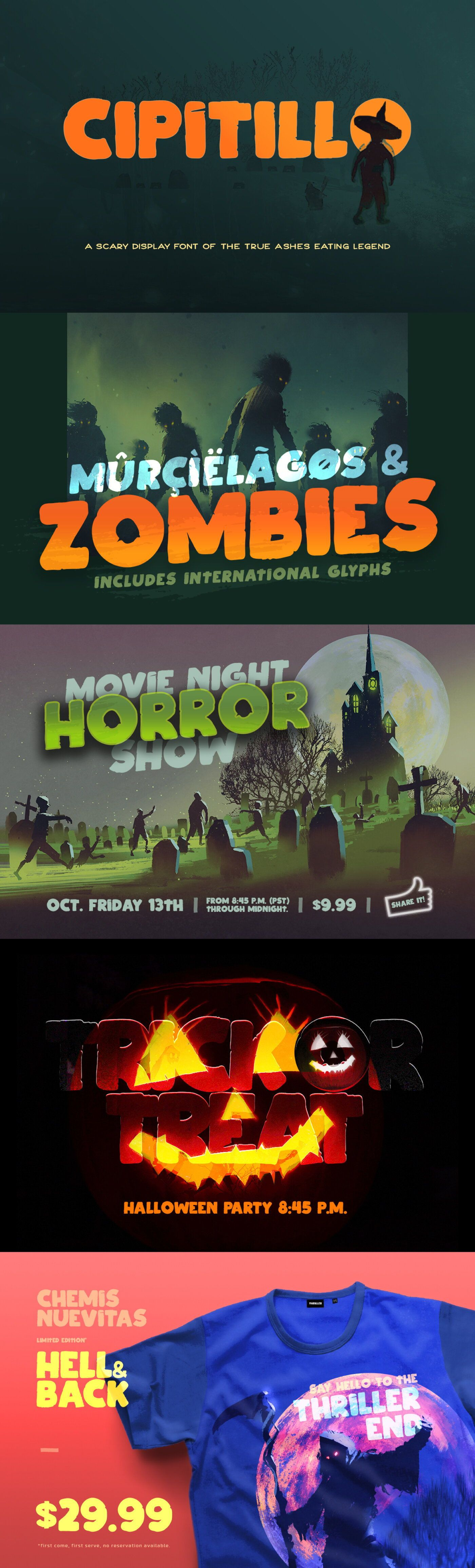 Halloween 2020 Poster No Font CIPITILLO   FREE DISPLAY FONT — Pixel Surplus | Resources For