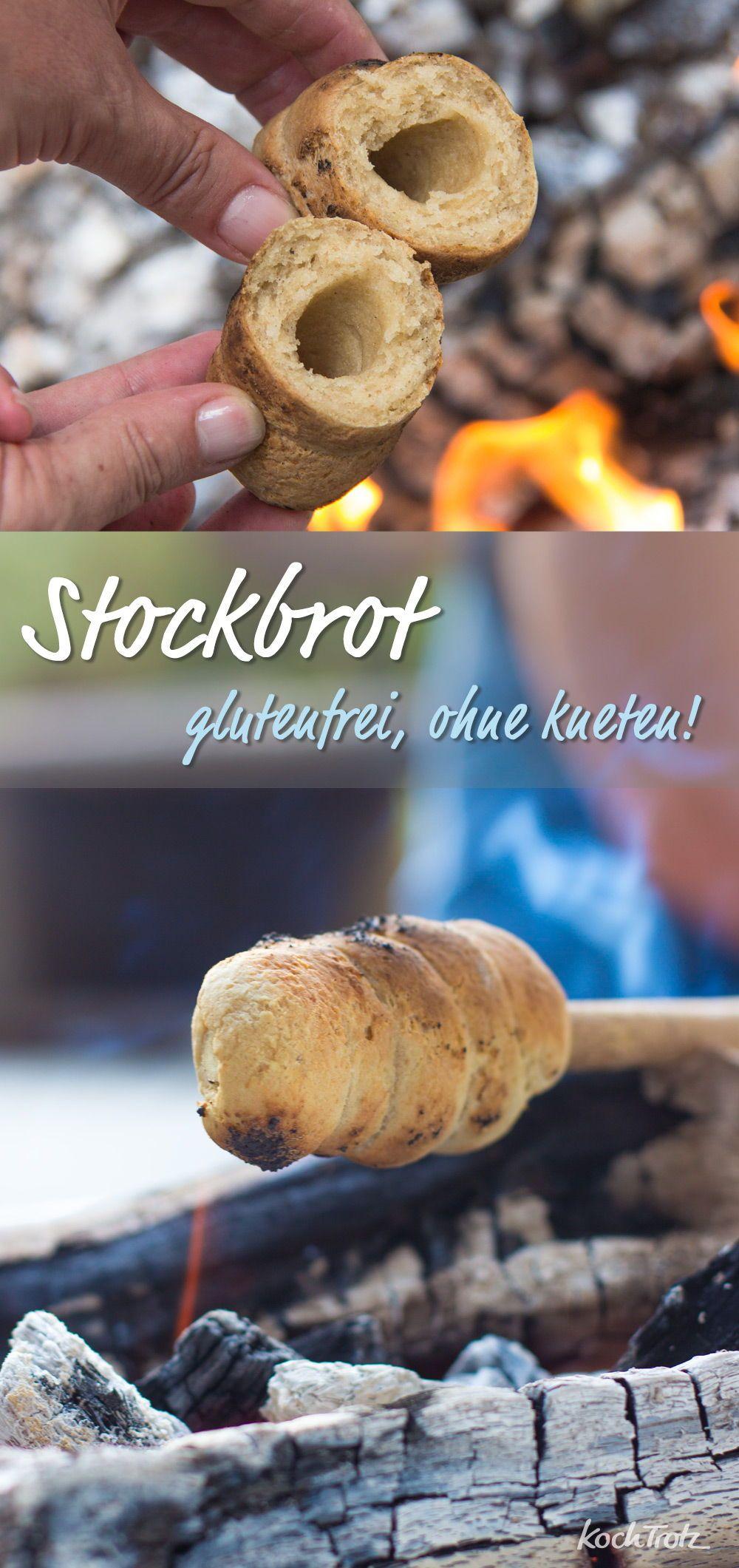 Glutenfreies Stockbrot | ohne Kneten | mit wenig Hefe - KochTrotz | kreative Rezepte #glutenfreierezepte