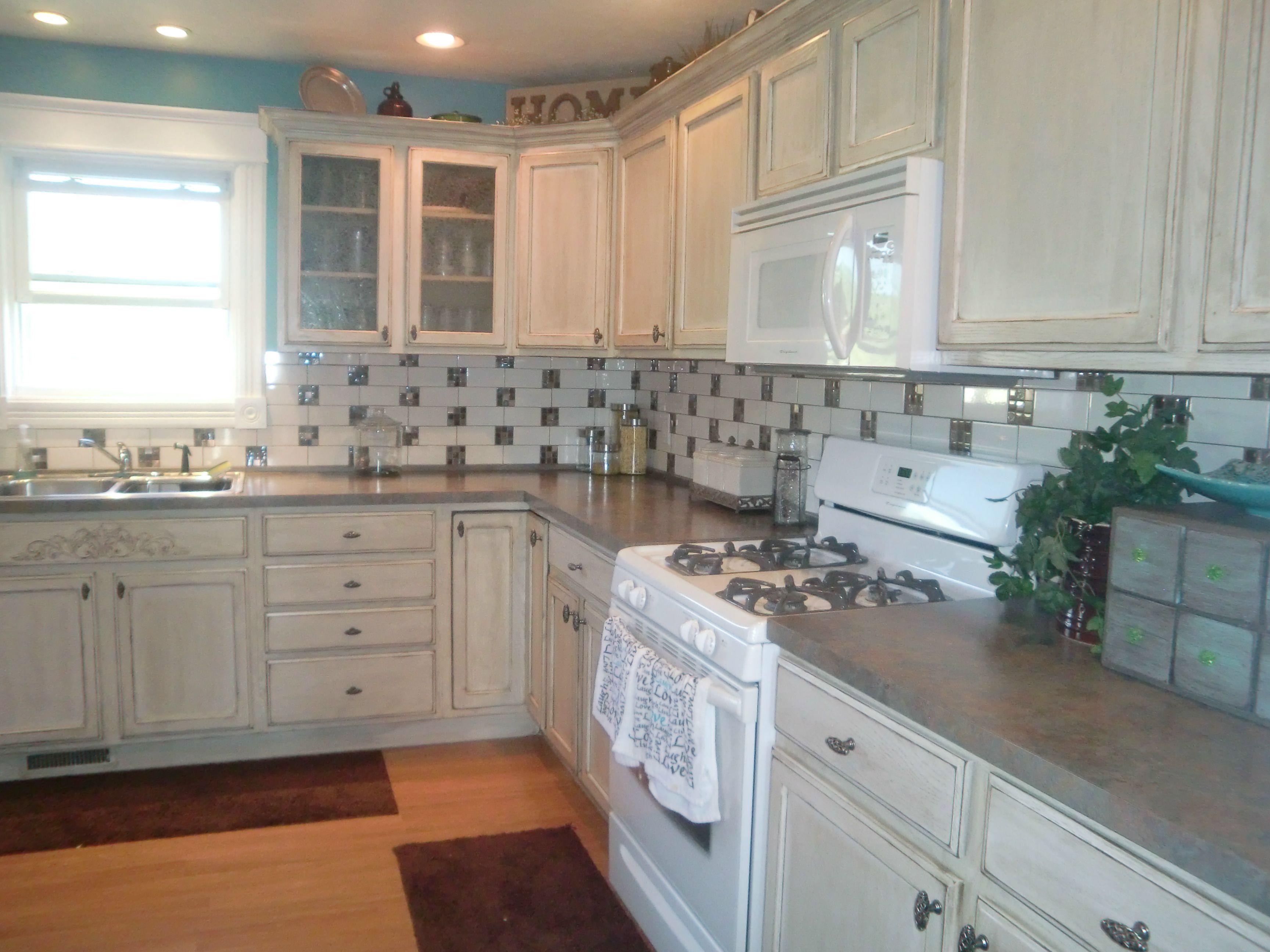 Distressed kitchen cabinets | Home design ideas | Pinterest