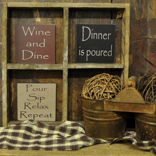 Wine Themed Signs - Kicthen