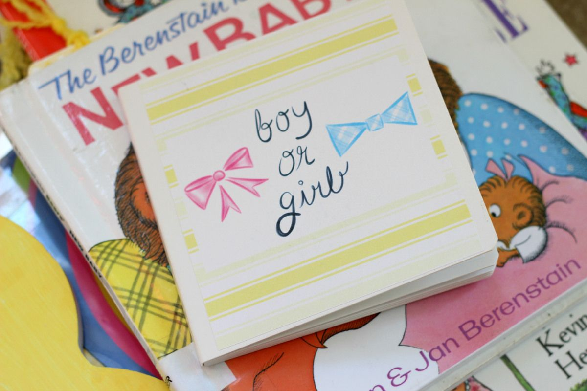 A Book-Themed Gender Reveal for Baby Barber