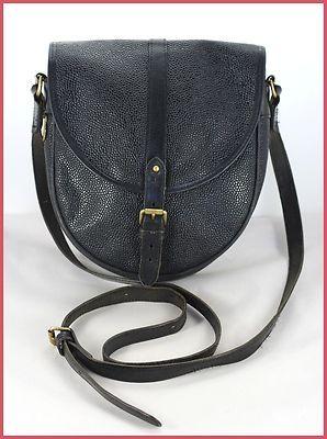 e003898af1bf MULBERRY Vintage Black Leather   Scotchgrain Saddle Satchel Shoulder Bag