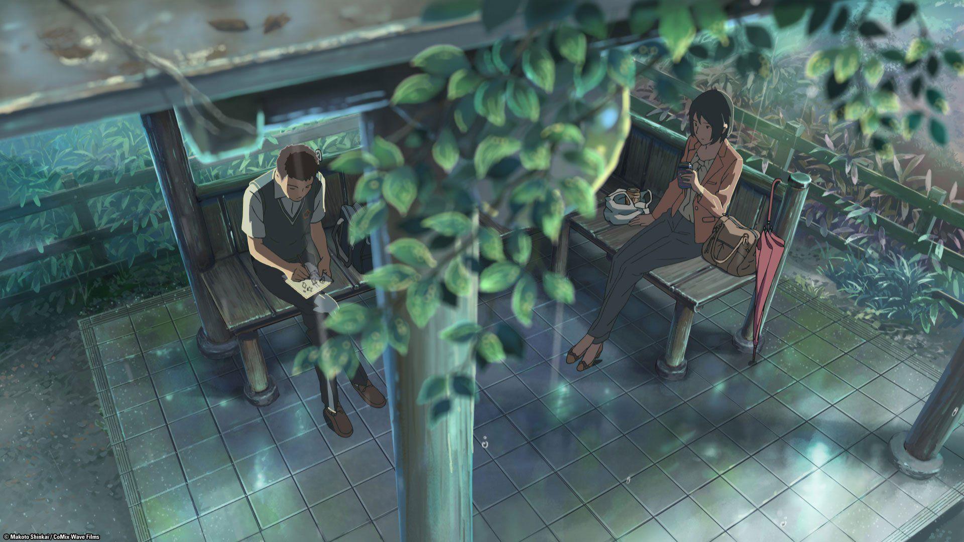 Kotonoha No Niwa The Garden Of Words Reino Unido Blu Ray Reino The Garden Of Words Ray Blu Jardin De Las Palabras Anime Romance Fondo De Anime