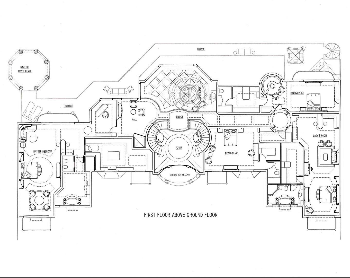 Abuja Africa French Chateau 15 000 Sf Mansion Floor Plan Floor Plan Design French Chateau
