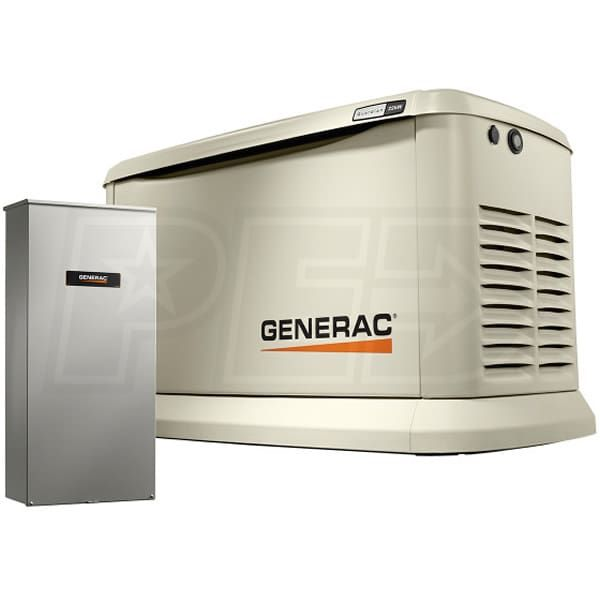 Generac Guardian 7043 A 22kw Standby Generator System 200a Service Disconnect Ac Shedding Home Backup Generator Standby Generators Transfer Switch