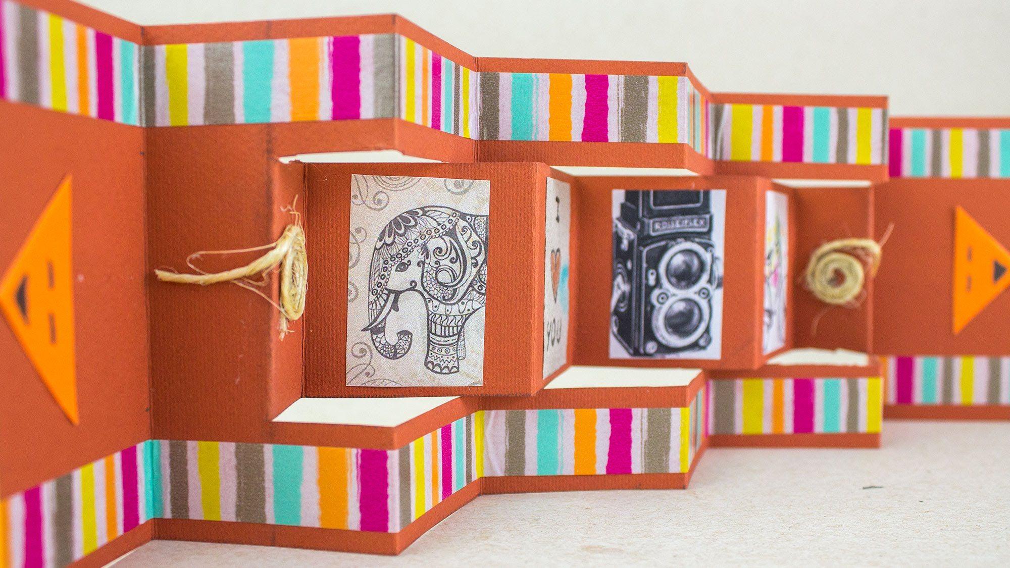 Tarjeta Scrapbook Acordeon Jeguridos Creative Card Ideas Linea