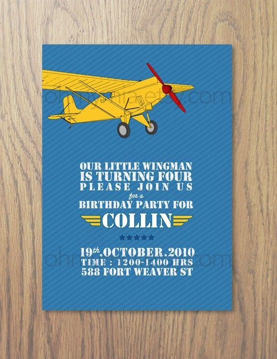 Printable airplane birthday party invitations charlies 1st printable airplane birthday party invitations filmwisefo Choice Image
