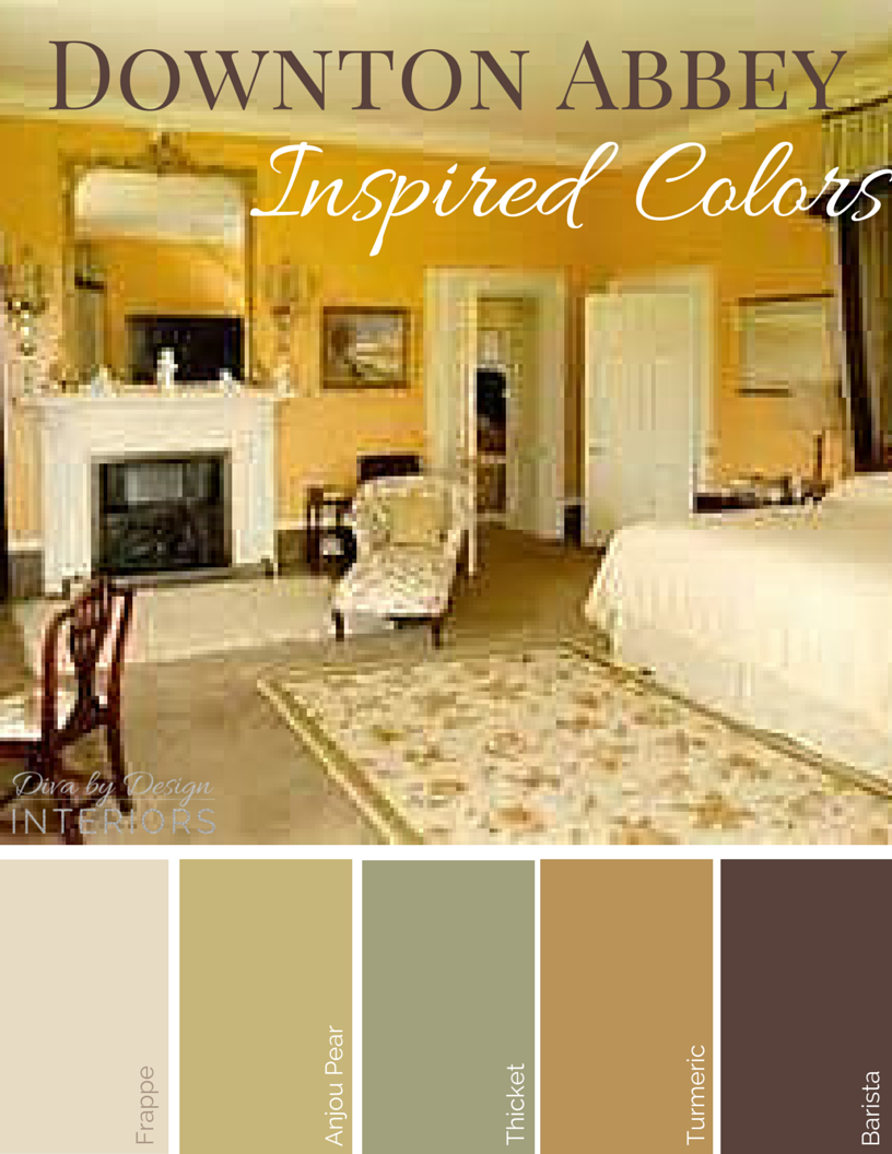 The Downton Abbey Guide to Color   English country decor