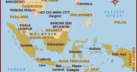 Peta Asia Tenggara Invonesia Pinterest Gambar Wilayah Bali