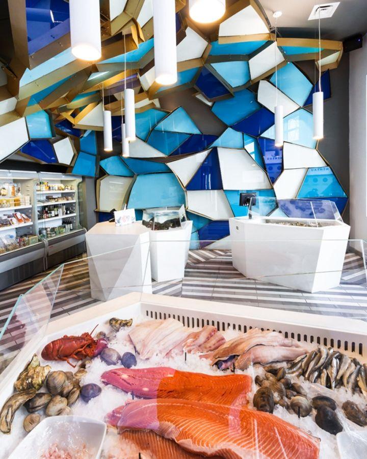 Nmeau Seafood Shop By Jean De Lessard Qubec City Canada Retail Design Blog