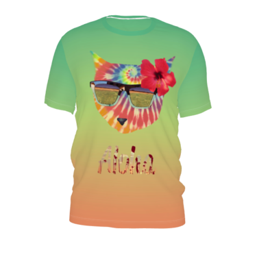 #Aloha by #99centbrains, #citrusreport, #tshirt, #alloverprint, #waves, #tiedye, #cat, #@The Citrus Report