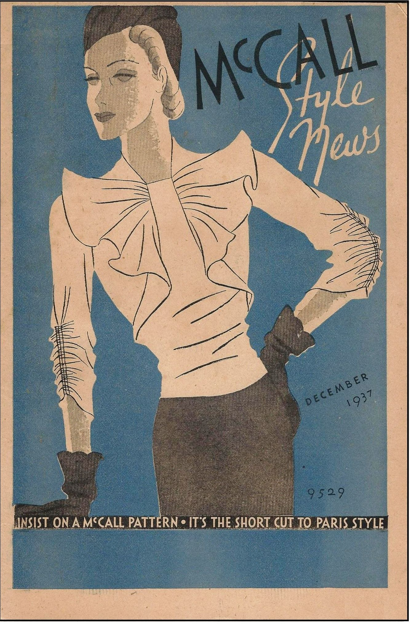 McCall 9529 in McCall Style News, December 1937 | 1930s McCall ...
