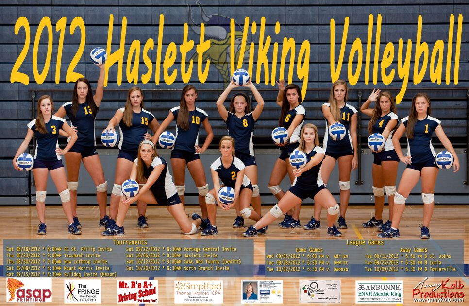 Image From Http Www Garrykolb Com Images Posters 2012 20haslett 20volleyball 20poster 20web Volleyball Team Pictures Volleyball Photos Volleyball Team Photos