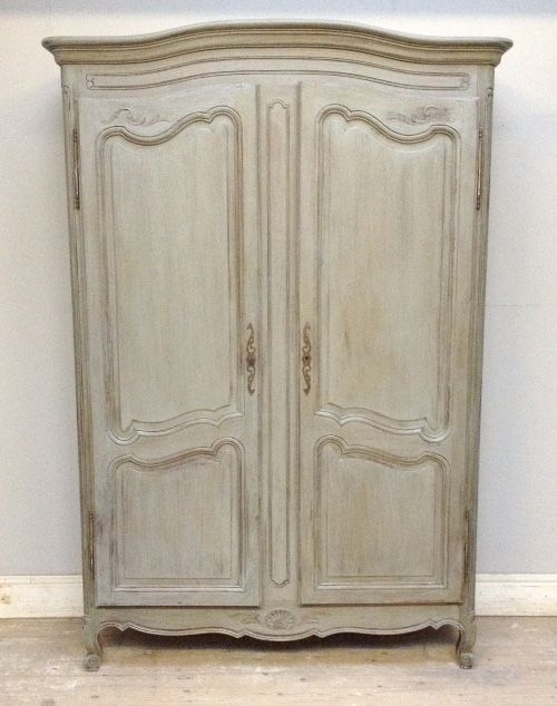Simple French Rustic Louis XV Armoire / Vintage C.1930s / Pale Grey Repaint  With Distressing / Frenchfinds.co.uk | LR | Pinterest | Armoires, French ...
