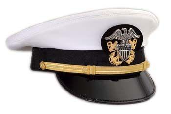 9b7247f92ac70 U.S. Navy Dress Service Cap - Company Grade