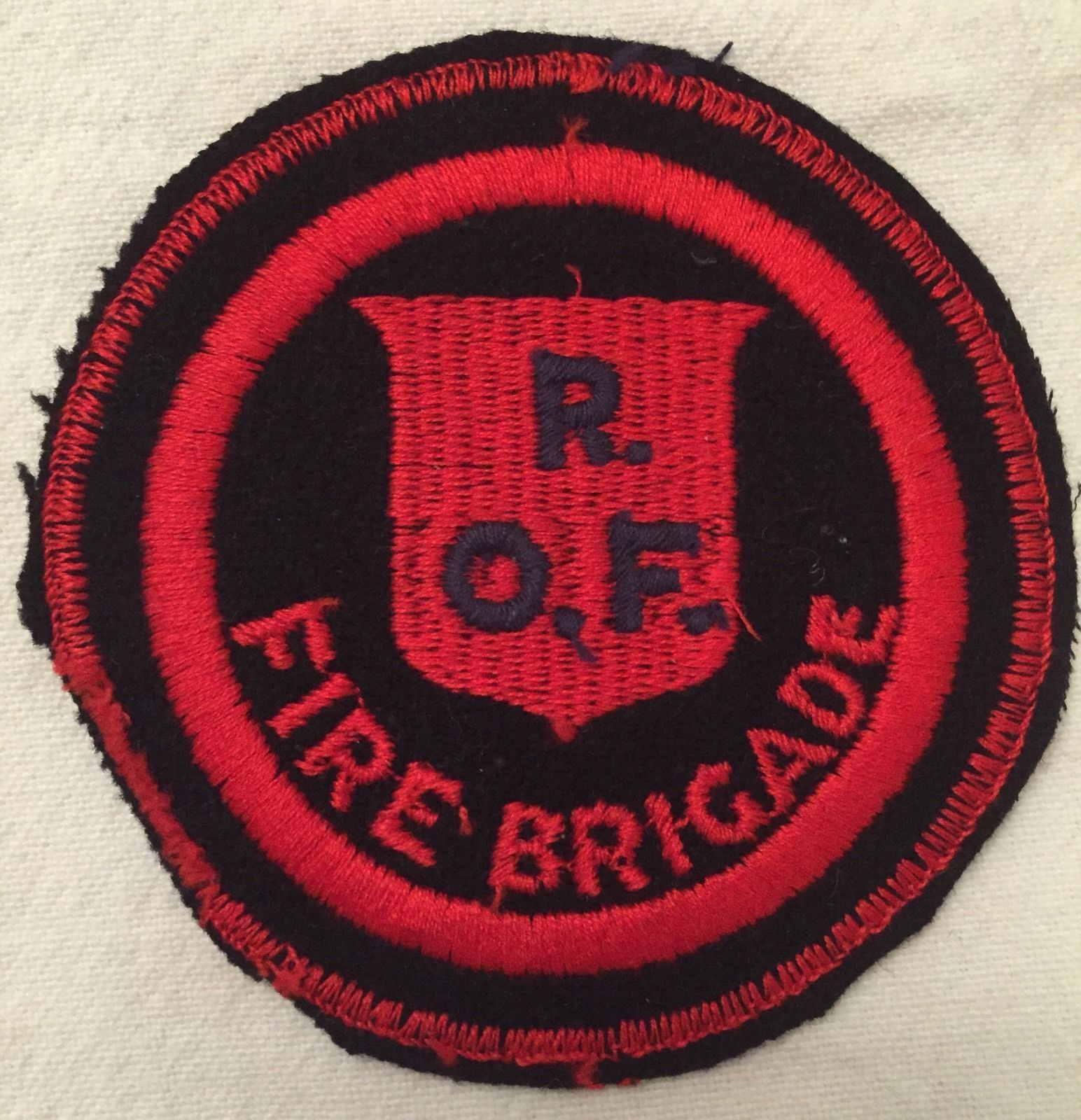 1940's Royal Ordnance Factory Fire Brigade cloth Badge | eBay