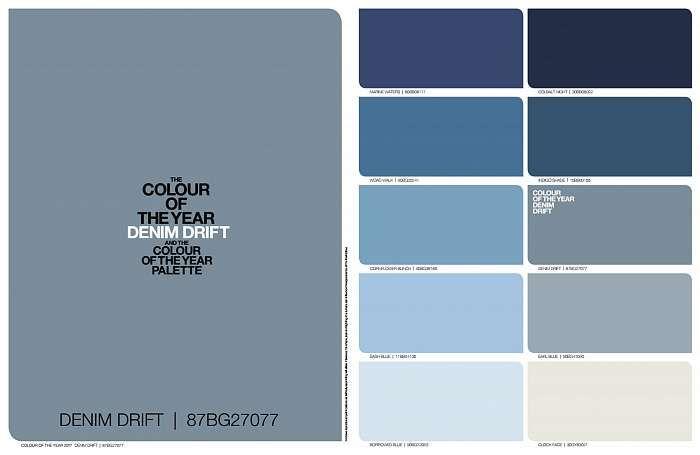Blue Is The Hue For Dulux 2017 Denim Drift Family Palette Paint Colours